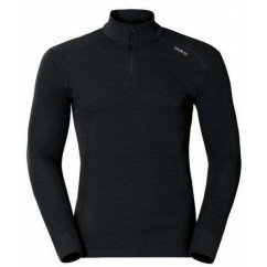 ODLO TEE ML 1/2 ZIP WARM NOIR