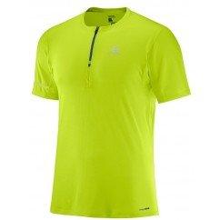 tee shirt de running pour hommes salomon agile hz ss tee acid lime
