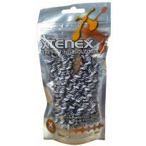 LACETS AUTOBLOQUANTS X-TENEX NOIR/BLANC