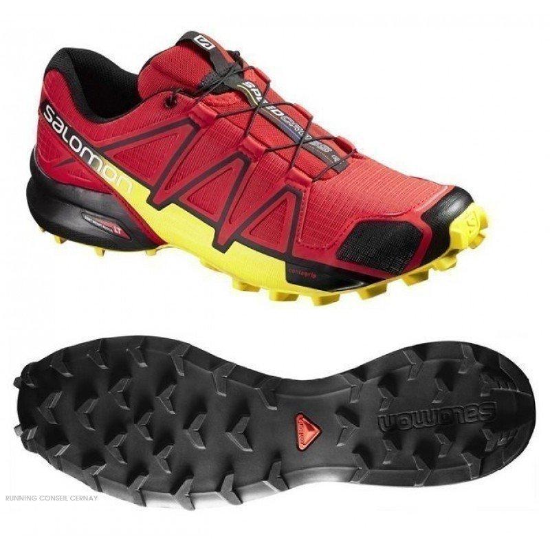 Détails sur Salomon Speedcross 4 Chaussures De Course Running Trail Hommes