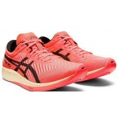 chaussure de running pour hommes asics gel nimbus 21 black / classic red 1011a257 001