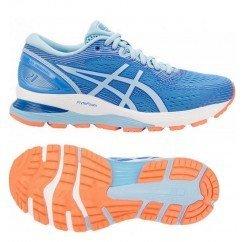 chausure de running pour femmes asics gel nimbus 21 blue coast / skylight 1012a156 400