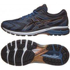 chaussures de running pour hommes asics gel gt 2000 7 1011a262 001 black / rich gold