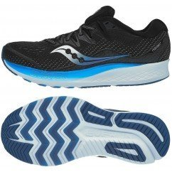 chaussures de running pour hommes saucony ride iso 2 s20514-2 black blue