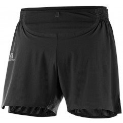 short de running et trail running salomon sense pro short lc104650 black / black