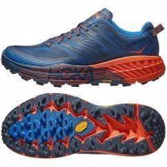 chaussures de trail running pour hommes hoka one one speedgoat 2 1016795 caribbean sea / blue dephts