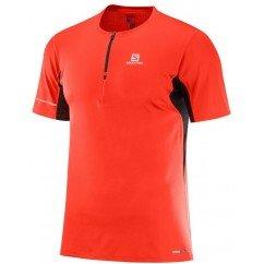 tee shirt de running pour hommes salomon agile hz ss tee fiery red l402193