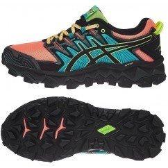 chaussure de trail running asics gel fuji trabuco 7 1012a180-700 corail sun / noir