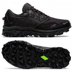 chaussure de running pour hommes asics gel nimbus 21 black / classic red 1011a257 001