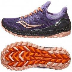 chaussure de trail running pour femmes saucony xodus ISO 3 s10449-37 purple / peach